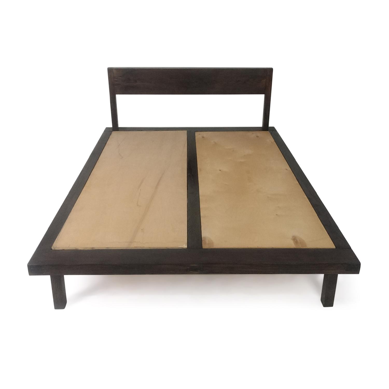 shop Wooden Brown Bed Frame online
