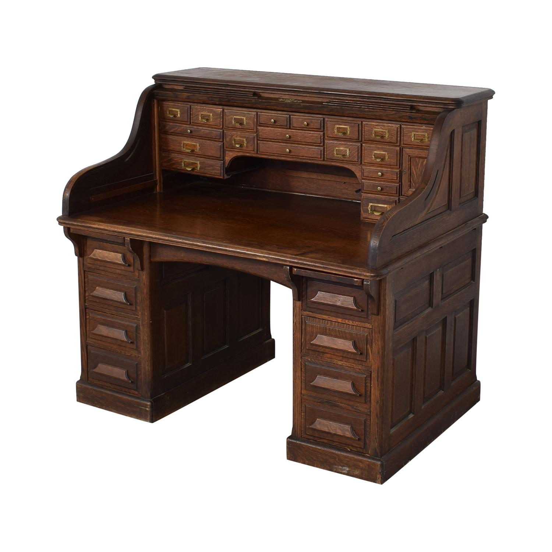 shop Gunn Furniture Roll-Top Desk Gunn Furniture Co.