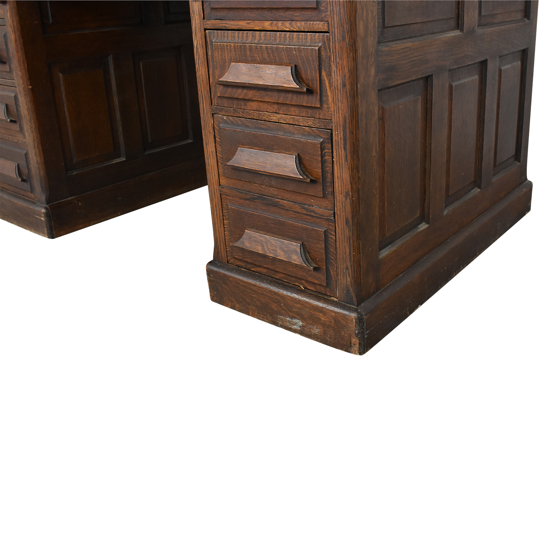 shop Gunn Furniture Roll-Top Desk Gunn Furniture Co. Tables
