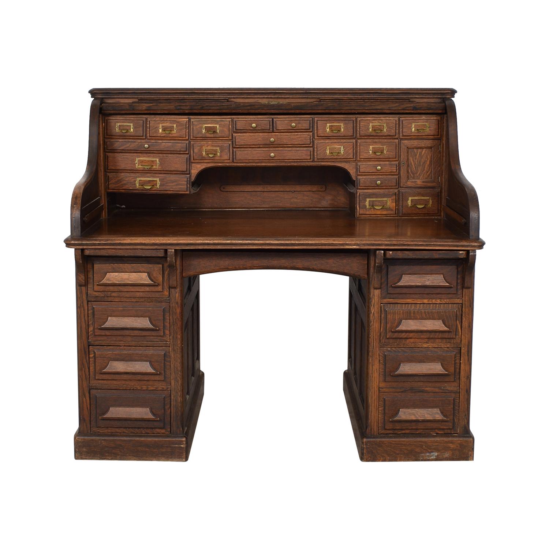 Gunn Furniture Co. Gunn Furniture Roll-Top Desk second hand