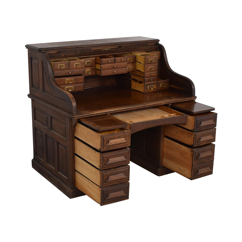 Gunn Furniture Co. Gunn Furniture Roll-Top Desk Tables