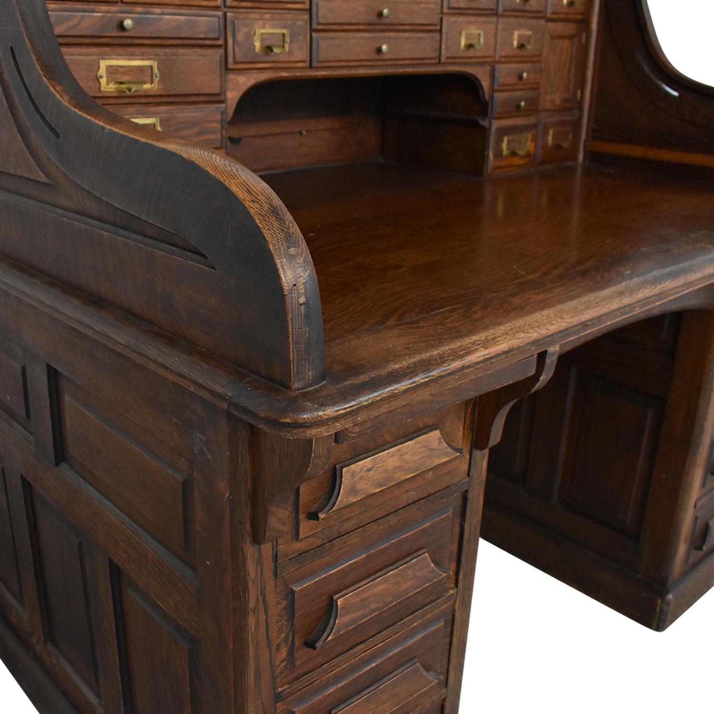 Gunn Furniture Co. Gunn Furniture Roll-Top Desk ct