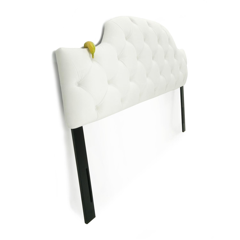 shop Sleepys White Tufted King Headboard Sleepys Headboards