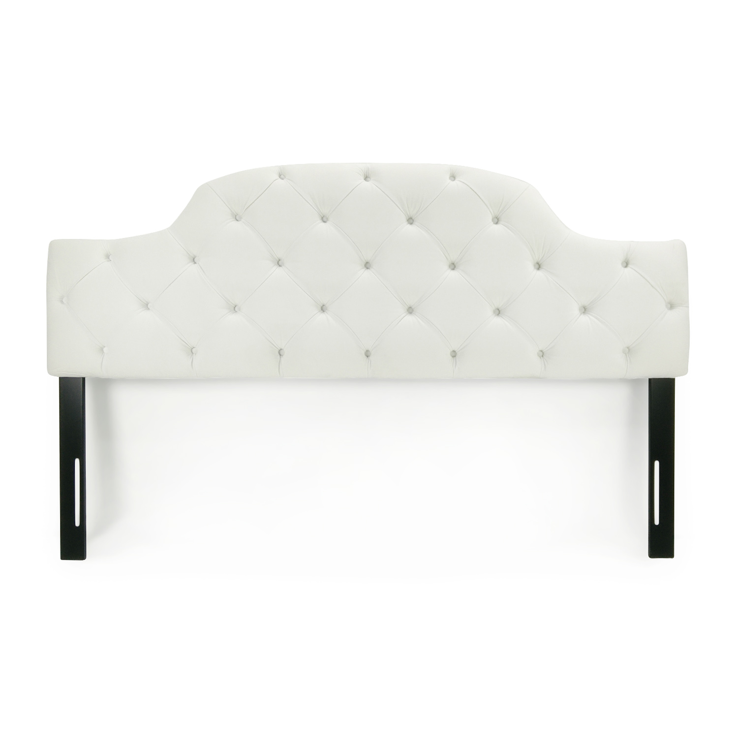 buy Sleepy's White Tufted King Headboard Sleepy's Headboards