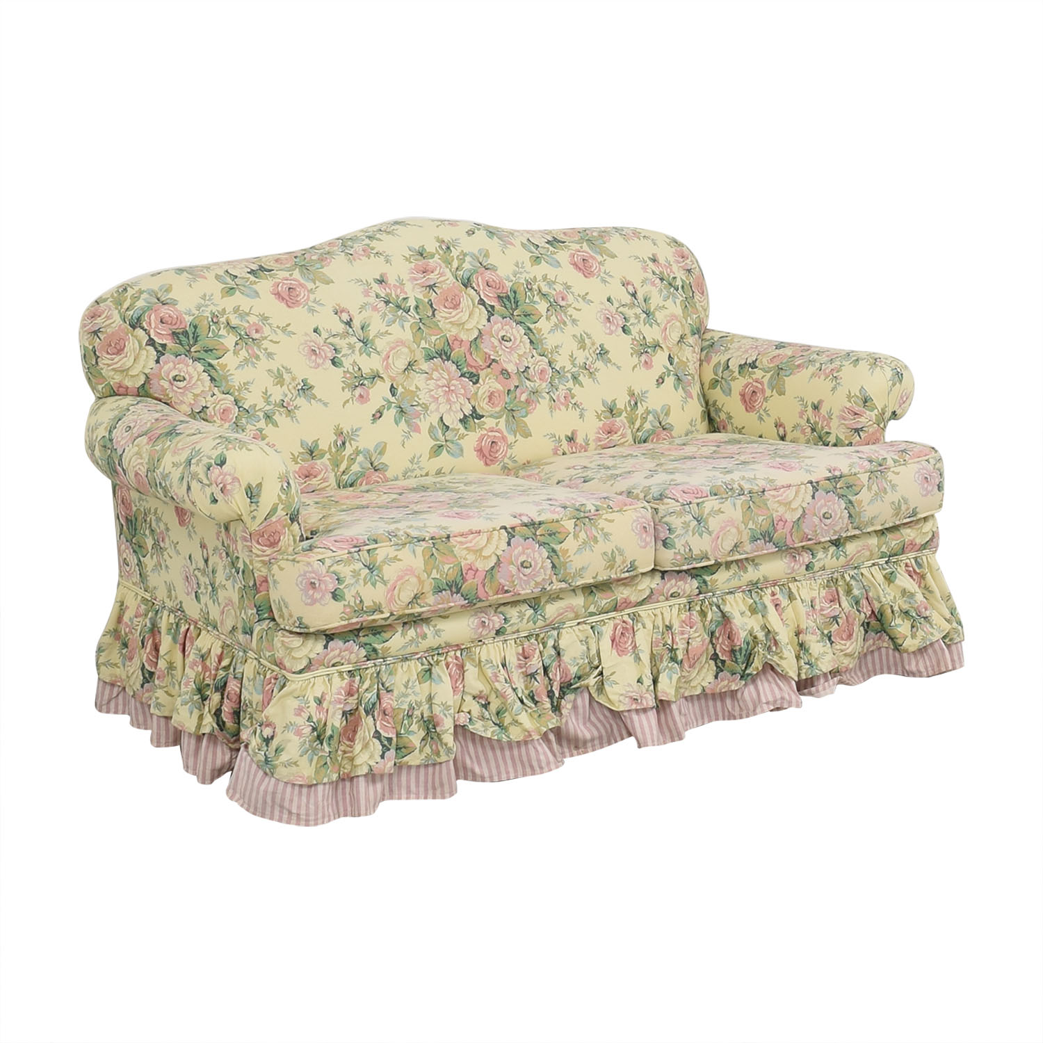 Clayton House Clayton House Floral Skirted Loveseat nyc