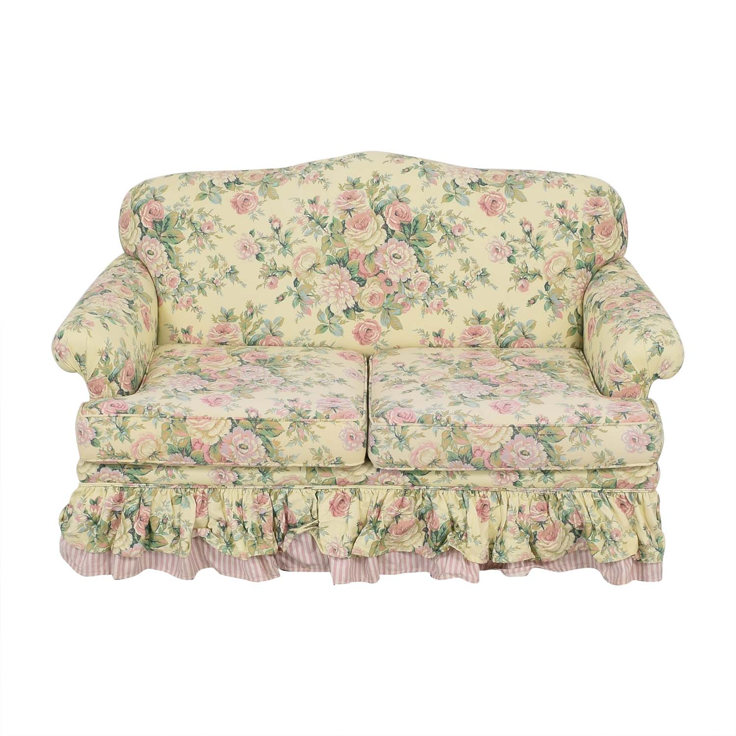 Clayton House Clayton House Floral Skirted Loveseat ct