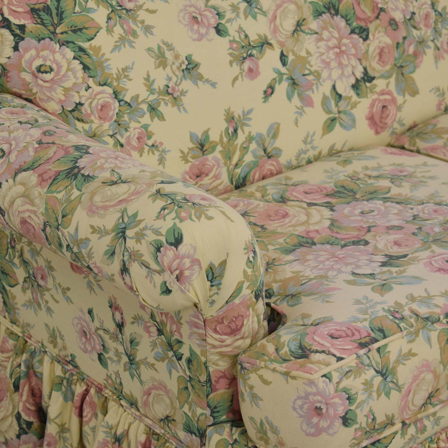 Clayton House Clayton House Floral Skirted Loveseat for sale