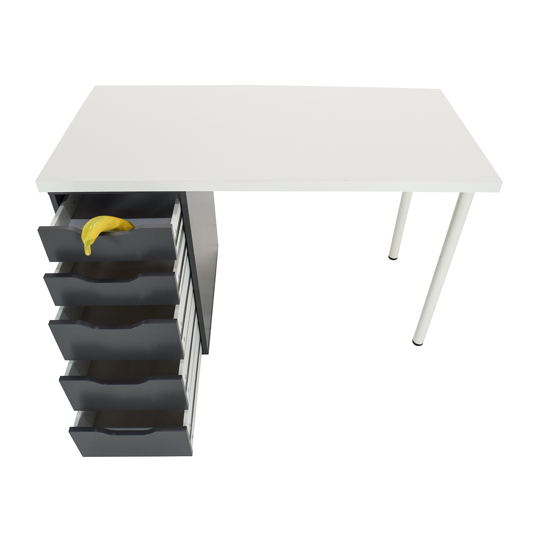 Table bureau ikea lisabo desk ikea hilver table ikea for Bureau table