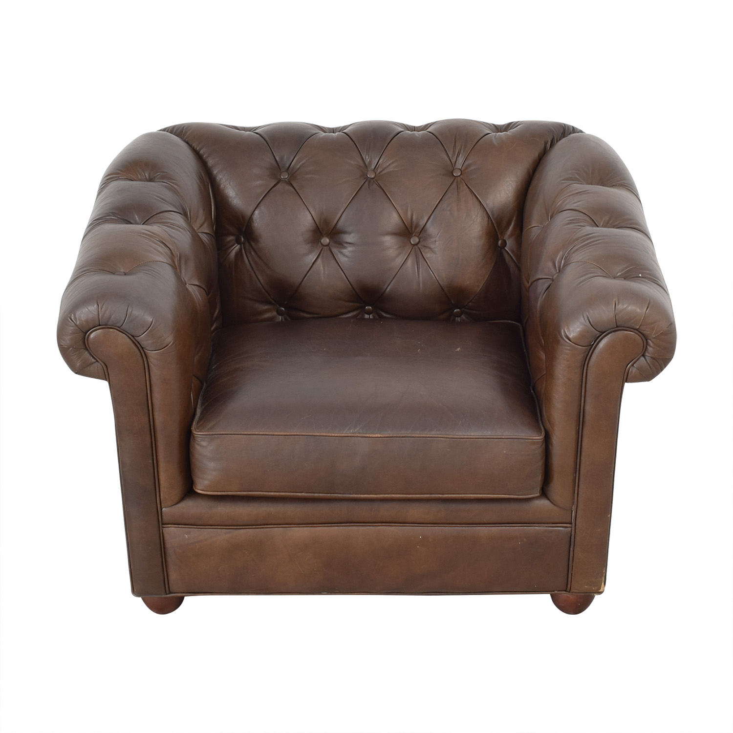 Pottery Barn Pottery Barn Chesterfield Armchair dark brown