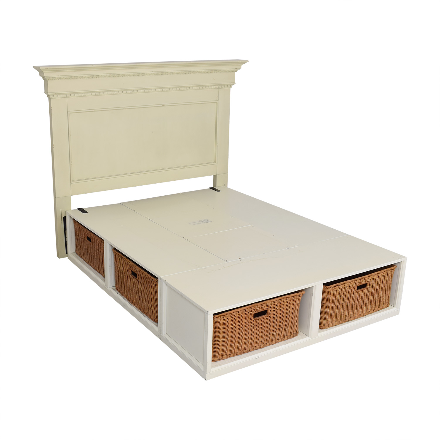 Pottery Barn Pottery Barn Addison Headboard and Stratton Storage Platform Bed with Baskets Bed Frames