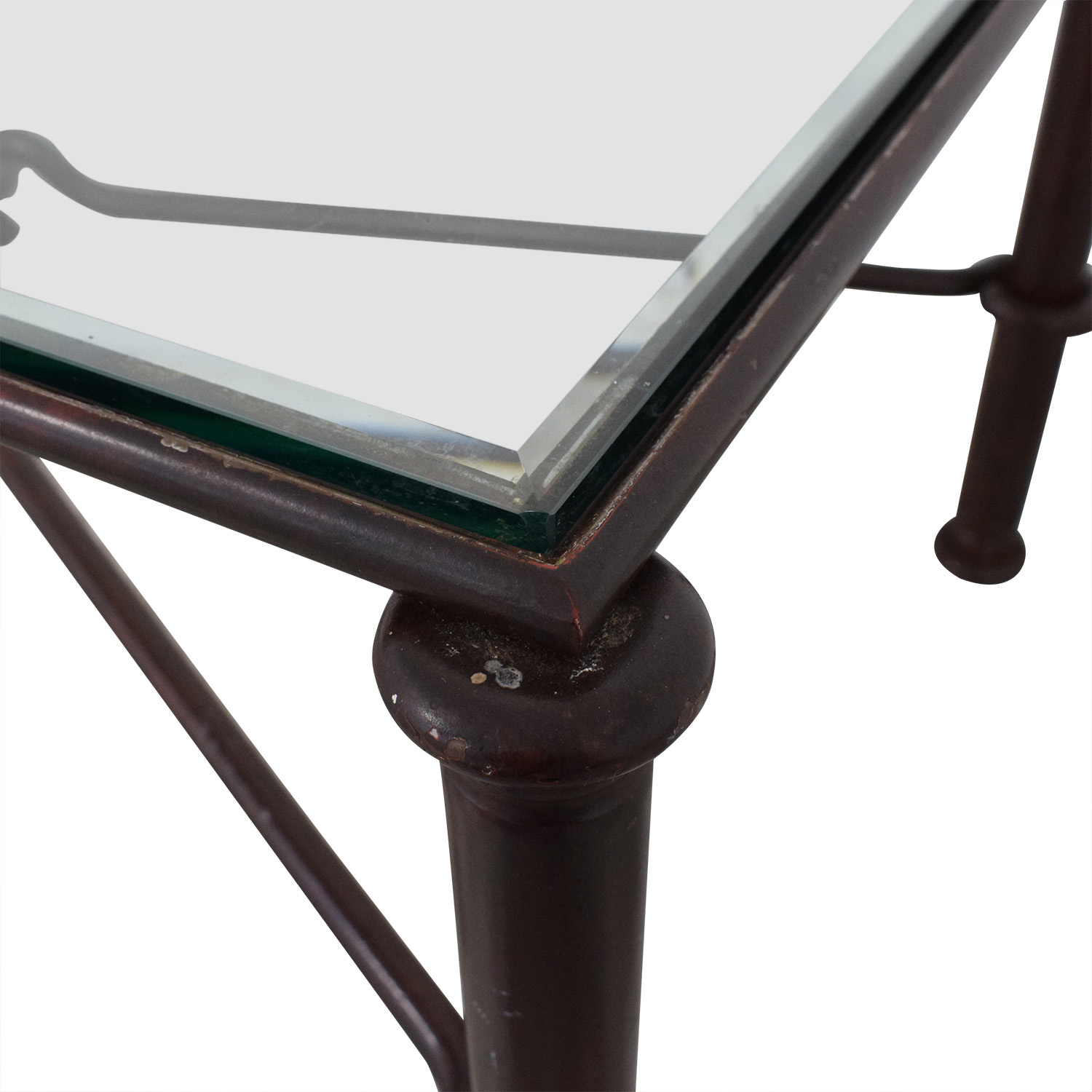 West Elm Glass Top Coffee Table / Tables