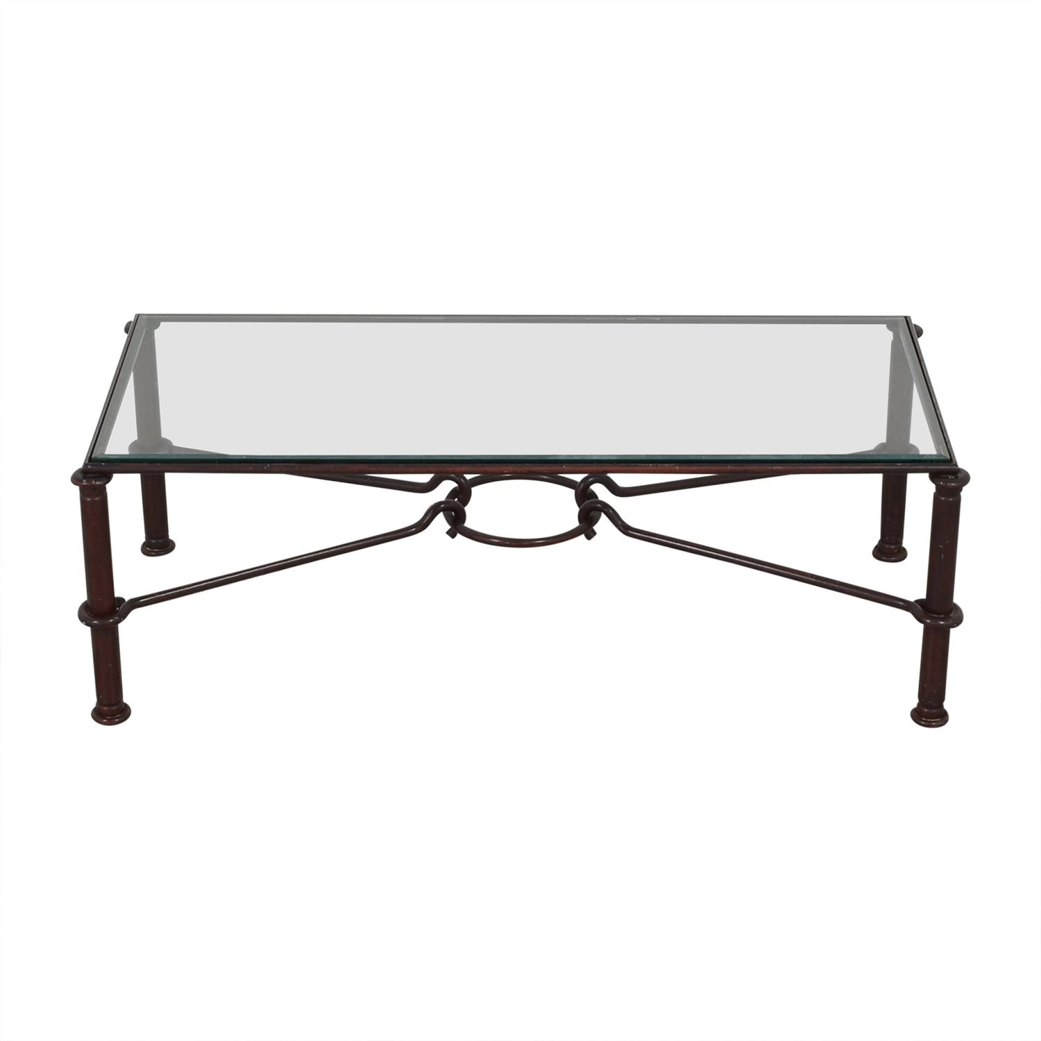 West Elm Glass Top Coffee Table sale