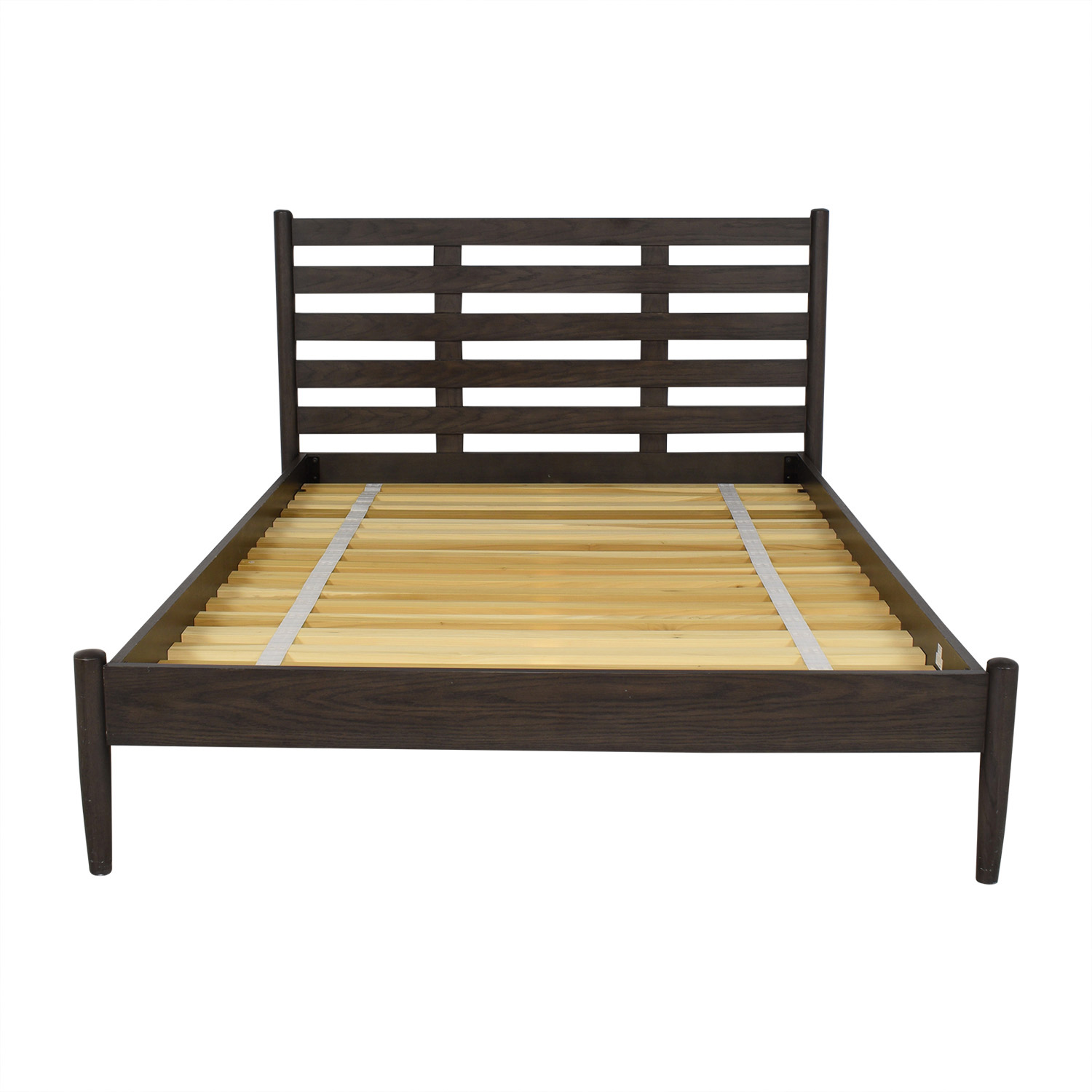 Crate & Barrel Crate & Barrel Barnes Queen Bed dark brown
