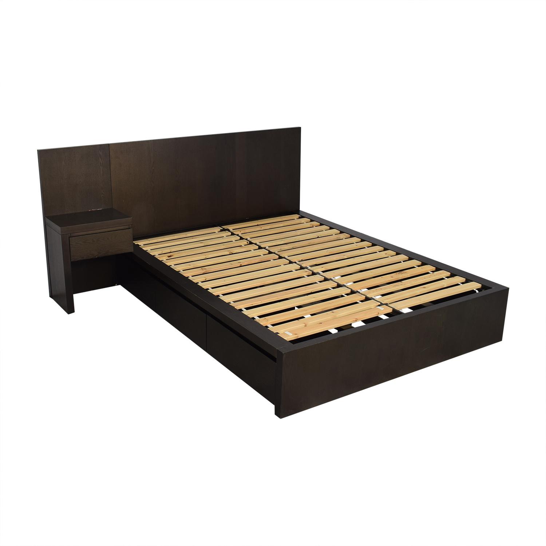 West Elm Queen Storage Bed Frame / Beds