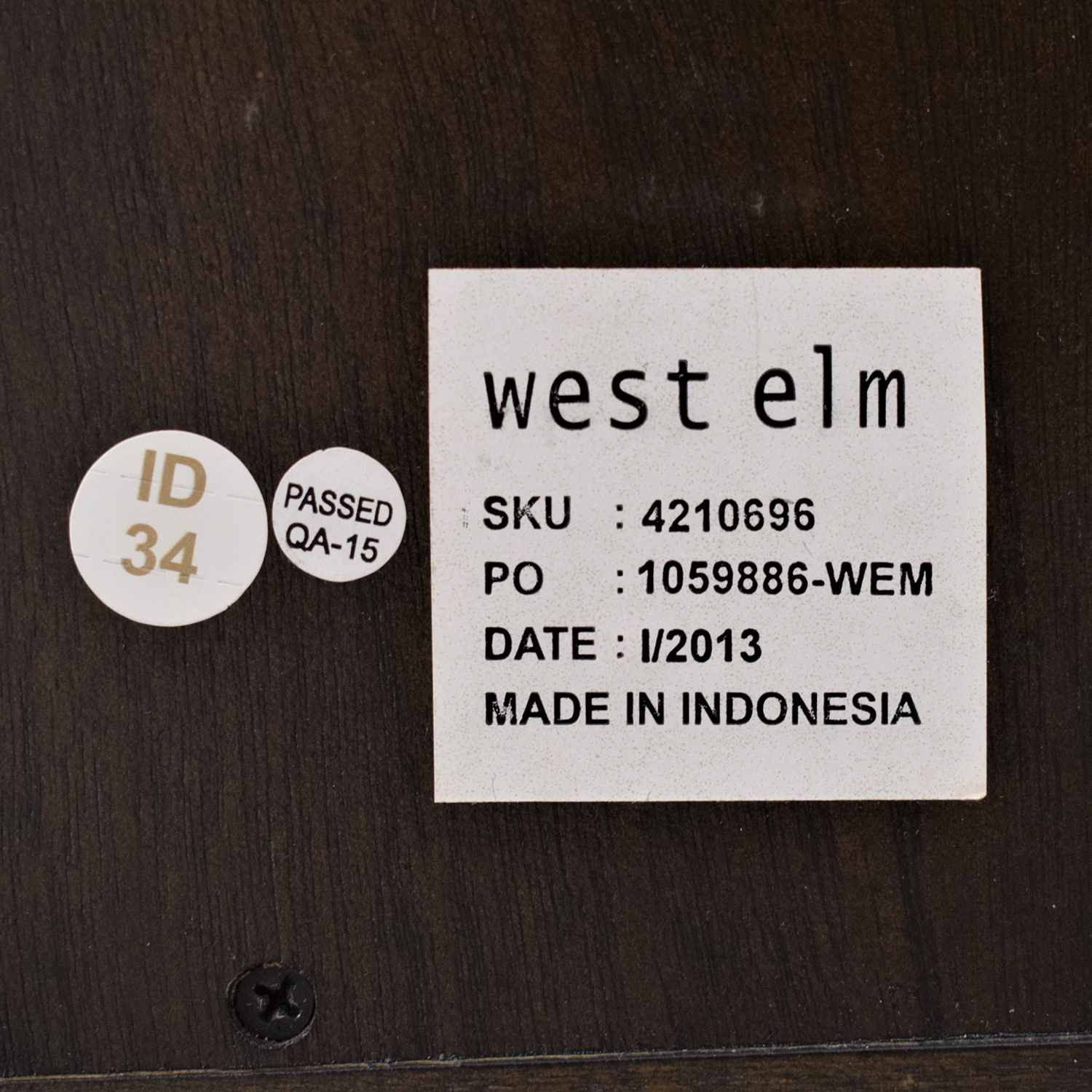West Elm West Elm Square Cutout Nightstand second hand