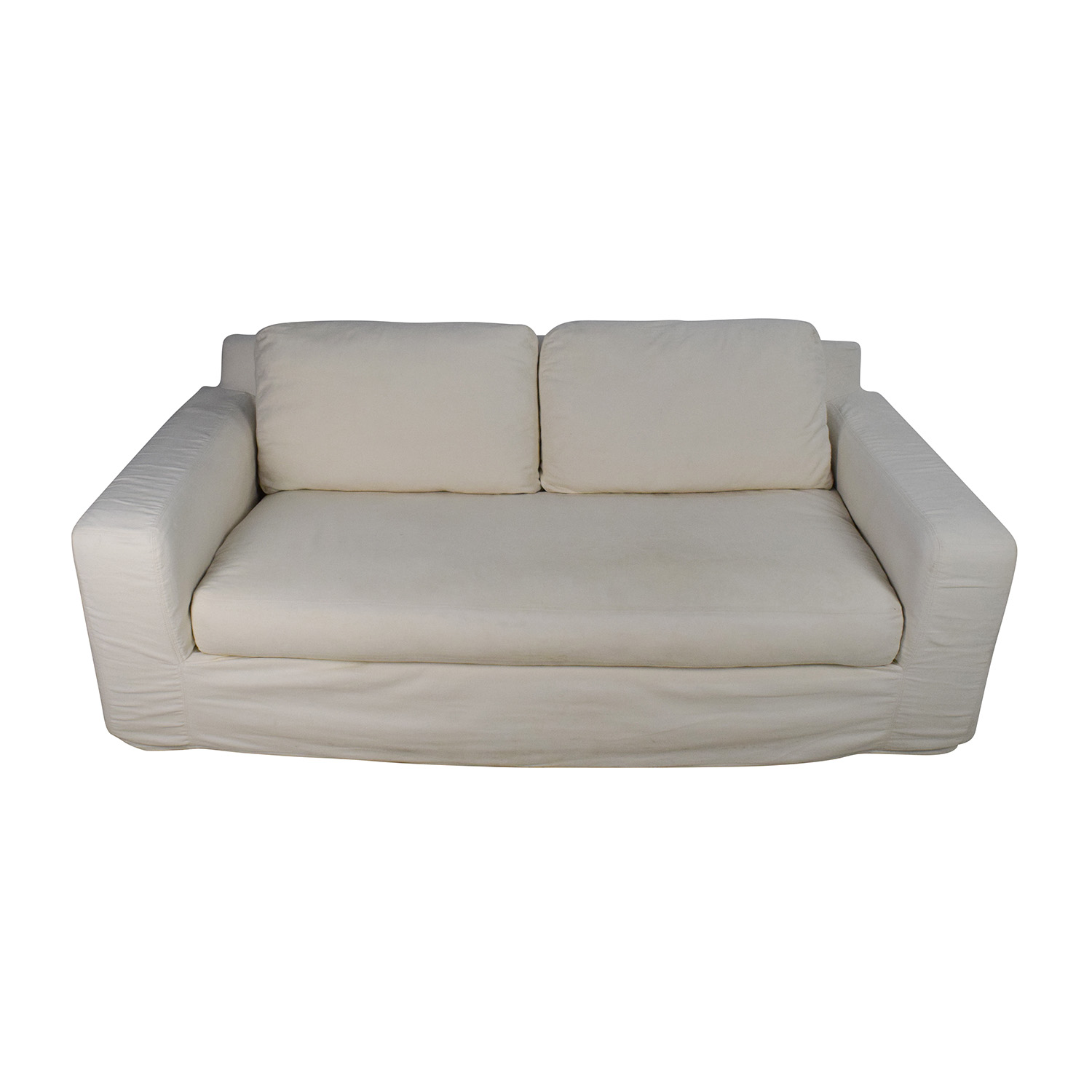 Pottery Barn Deep Seat Cream Sofa Pottery Barn