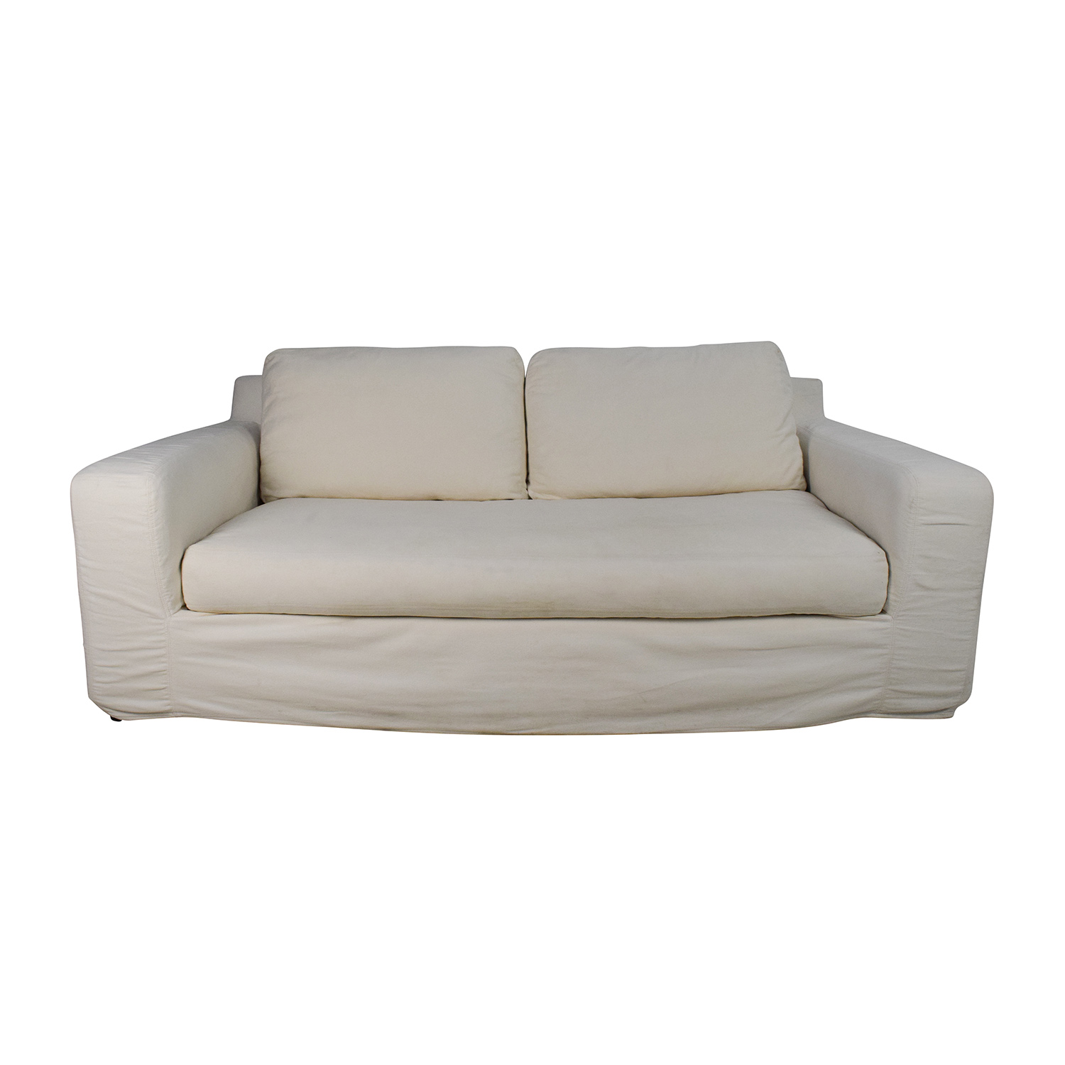 Pottery Barn Pottery Barn Deep Seat Cream Sofa
