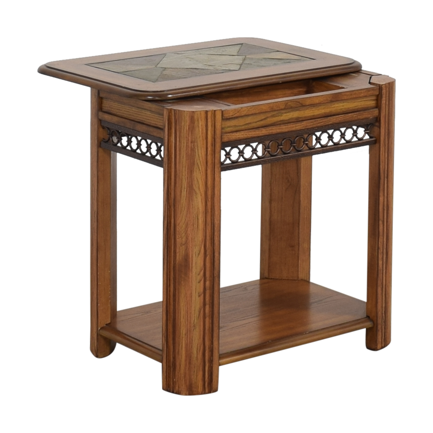 Raymour & Flanigan Raymour & Flanigan Sliding Top Chairside Table pa