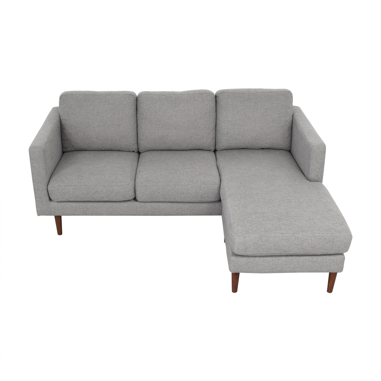 buy Rivet Rivet Revolve Modern Upholstered Sectional with Chaise Lounge online