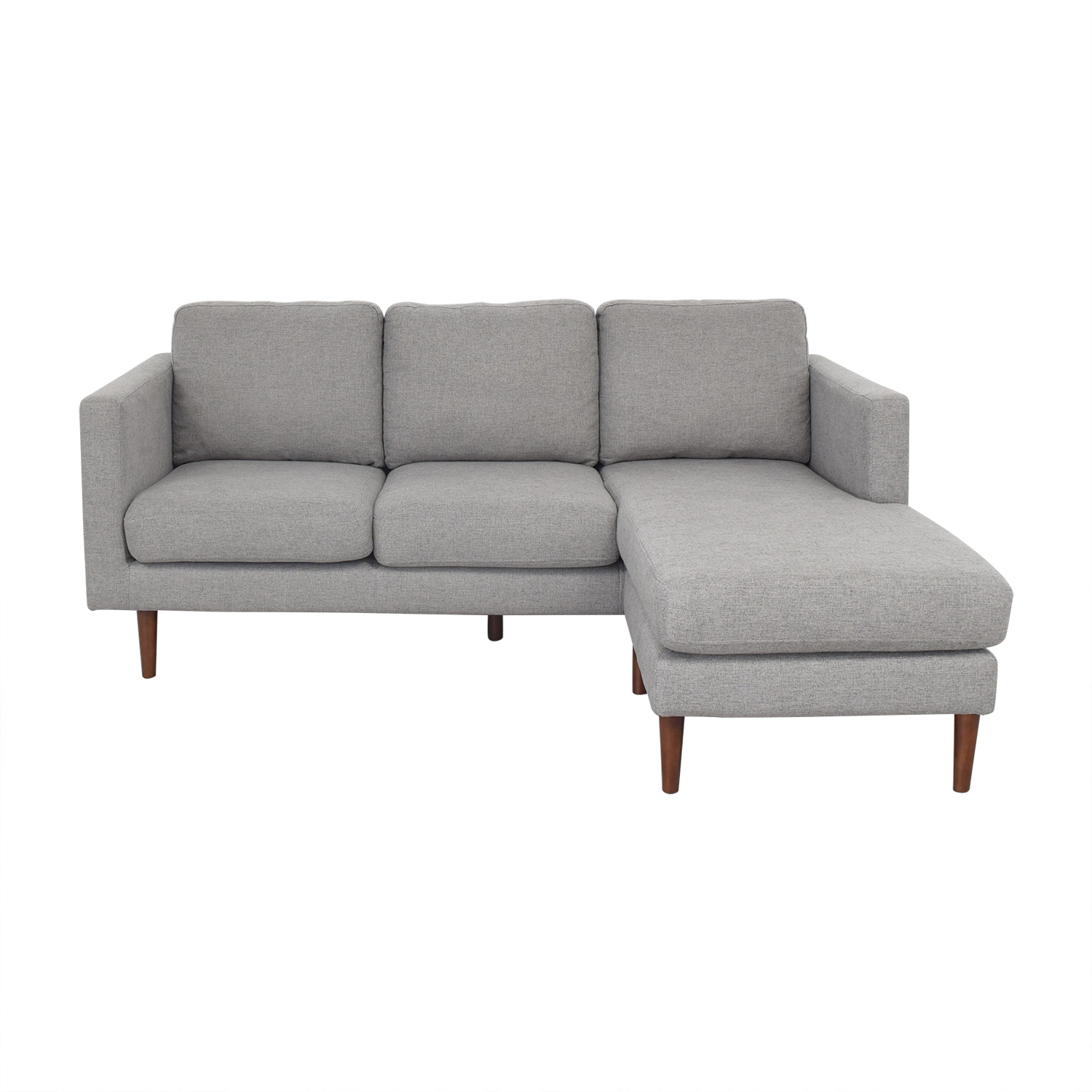 30% OFF - Rivet Rivet Revolve Modern Upholstered Sectional with Chaise  Lounge / Sofas