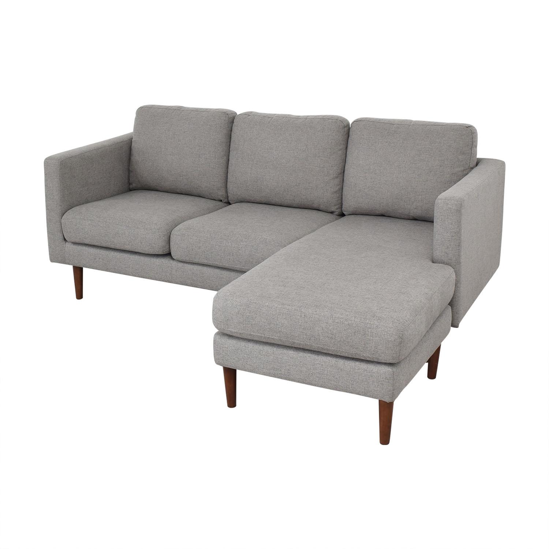 shop Rivet Rivet Revolve Modern Upholstered Sectional with Chaise Lounge online
