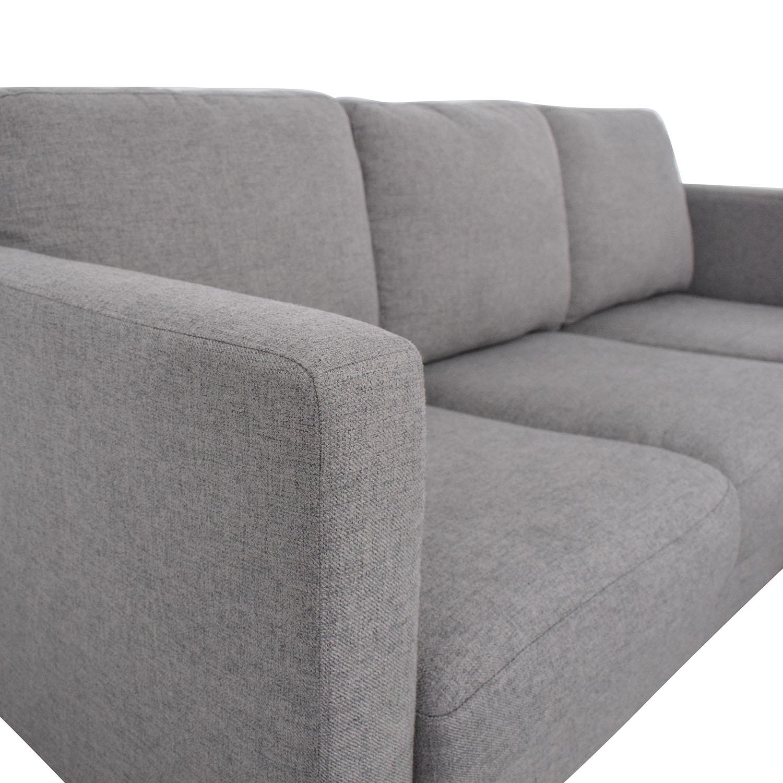 Rivet Revolve Modern Upholstered Sectional with Chaise Lounge Rivet