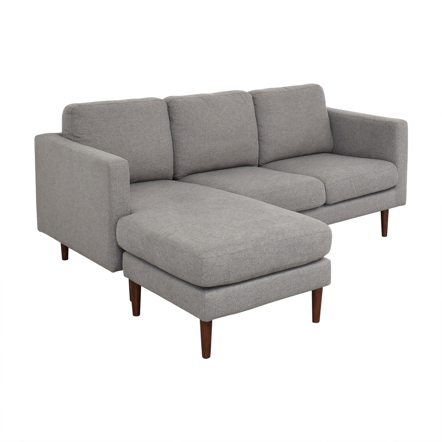 Rivet Revolve Modern Upholstered Sectional with Chaise Lounge / Sectionals