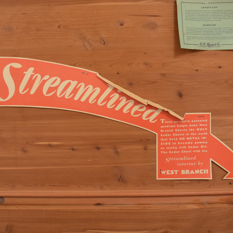 buy Macy's West Branch Novelty Company Vintage Cedar Hope Chest Macy's Storage