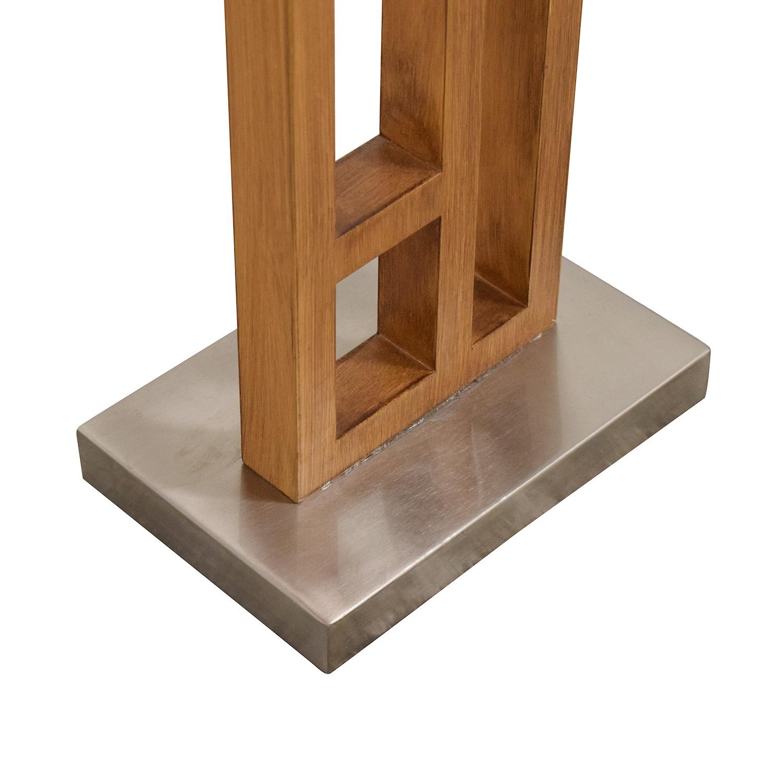 shop Joss & Main Joss & Main Wood and Stainless Steel Floor Lamp online