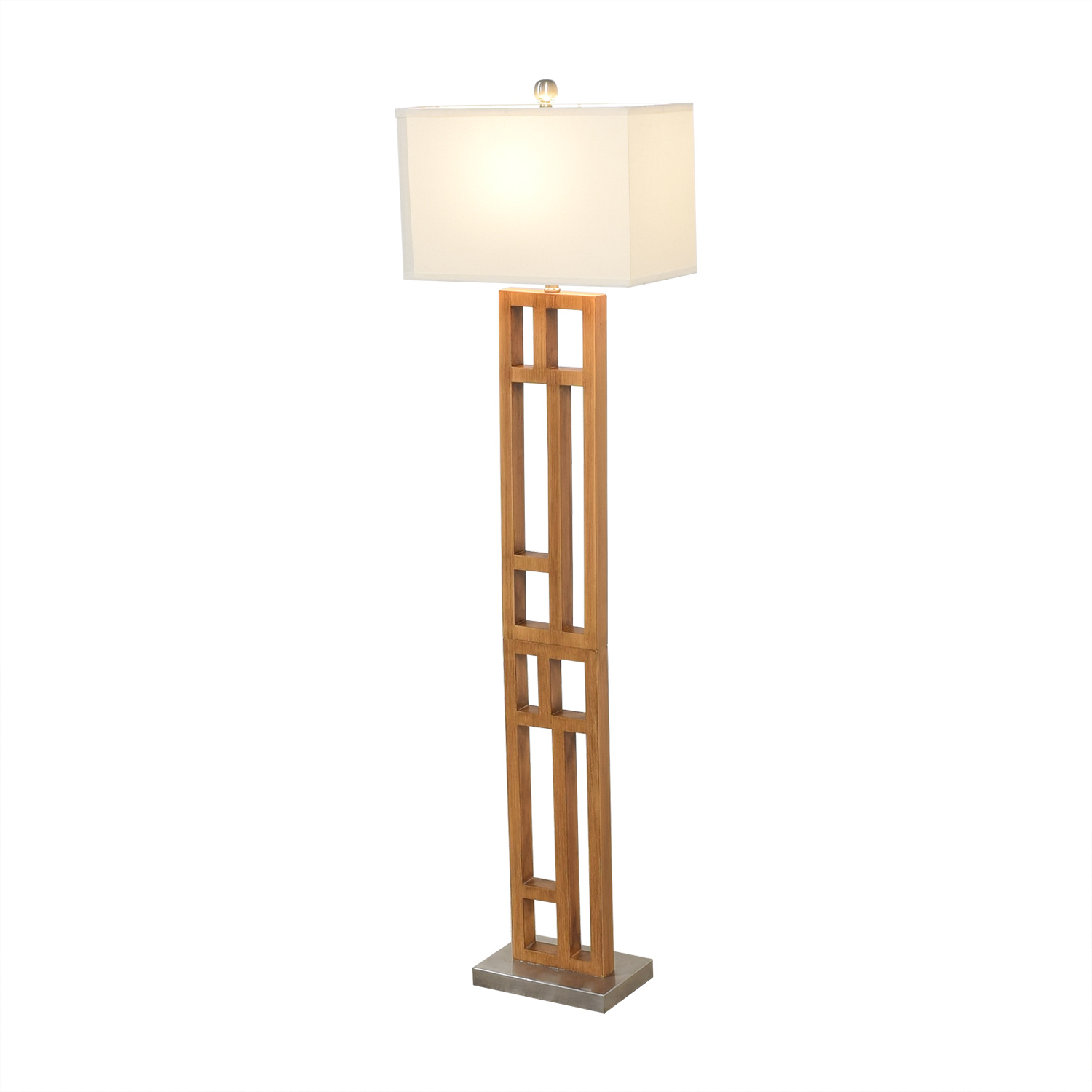 Joss & Main Wood and Stainless Steel Floor Lamp / Lamps