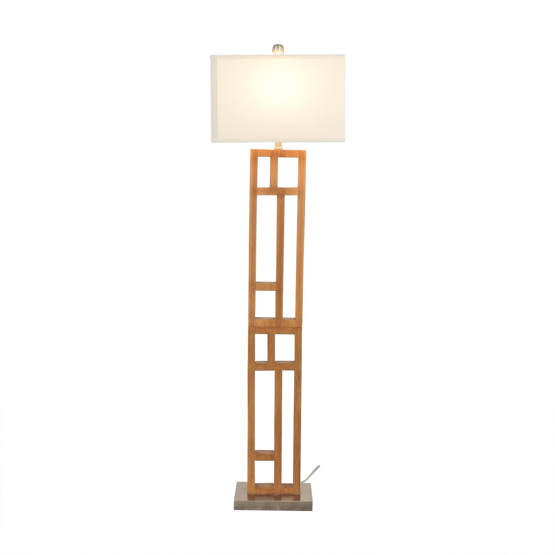 shop Joss & Main Wood and Stainless Steel Floor Lamp Joss & Main
