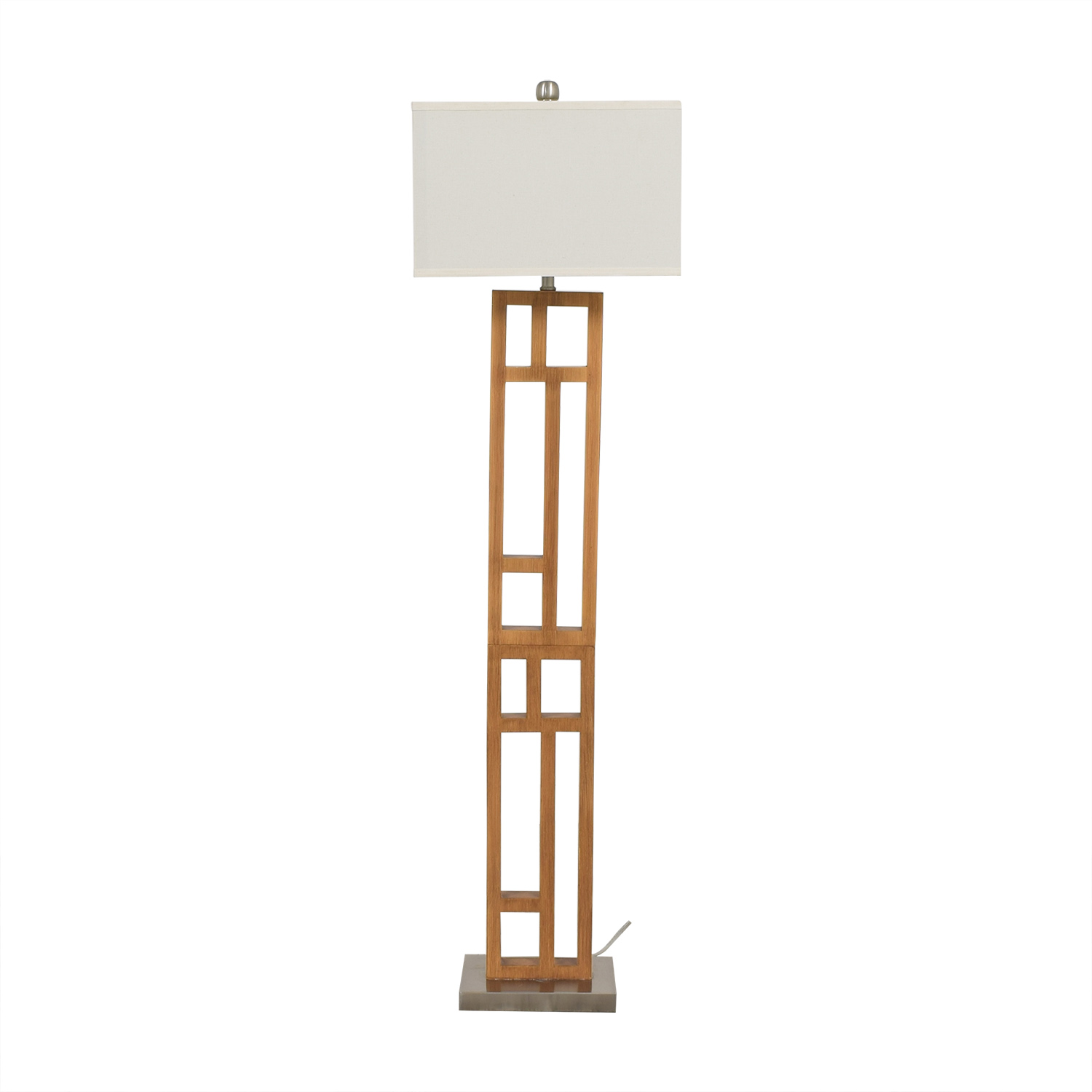 buy Joss & Main Wood and Stainless Steel Floor Lamp Joss & Main Decor