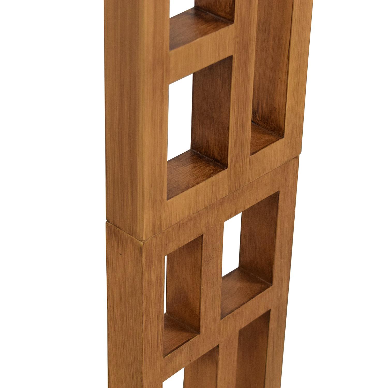 Joss & Main Joss & Main Wood and Stainless Steel Floor Lamp for sale