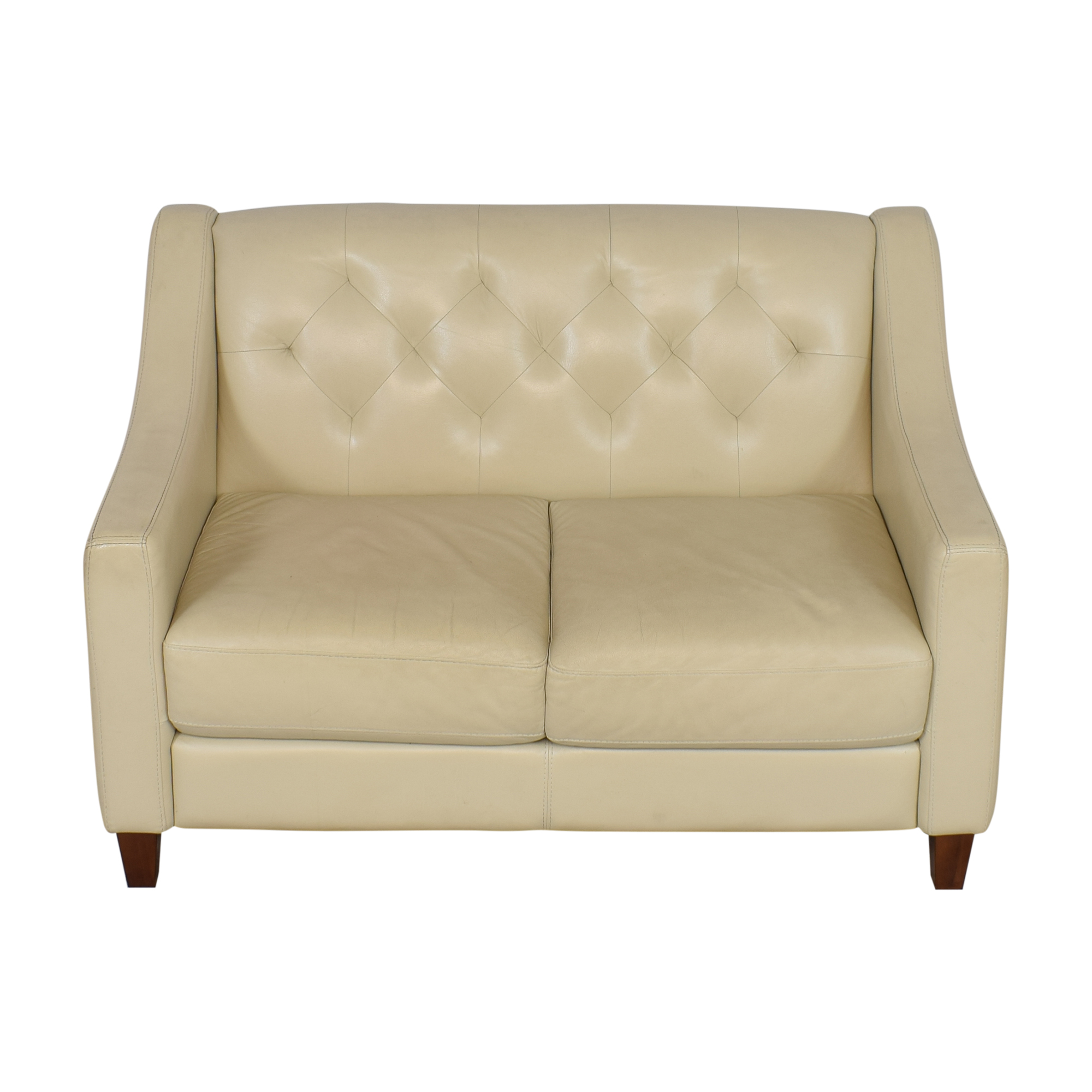 Chateau d'Ax Slope Arm Tufted Loveseat Chateau d'Ax