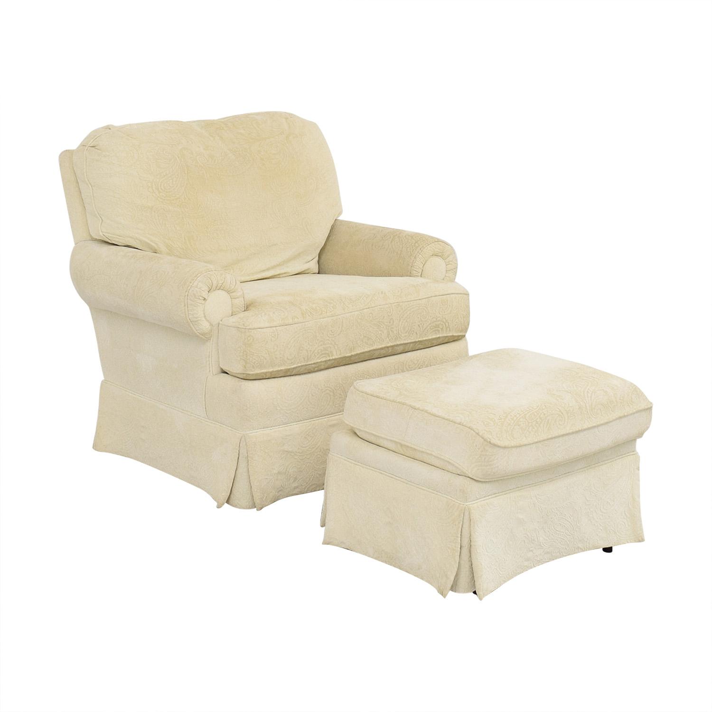 Best Chairs Best Chairs Braxton Swivel Glider and Ottoman