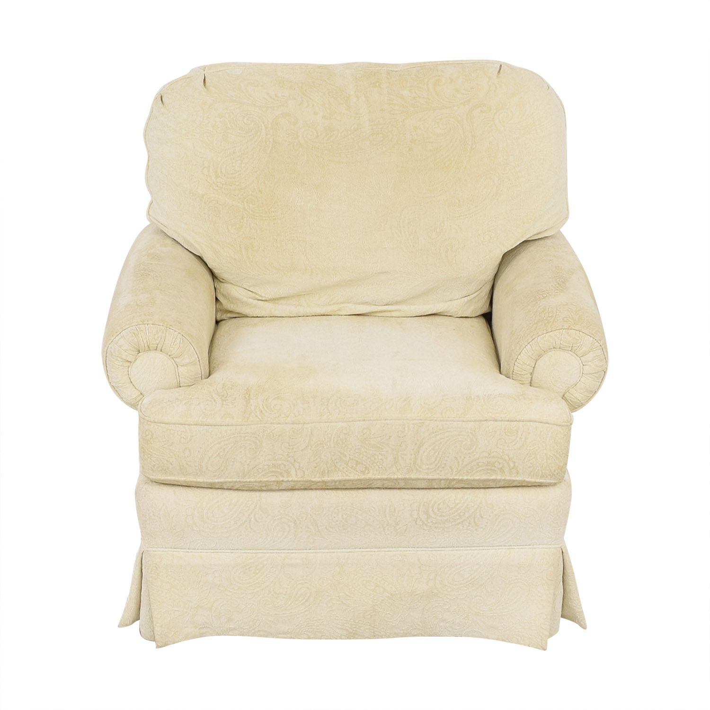 Best Chairs Best Chairs Braxton Swivel Glider and Ottoman off white