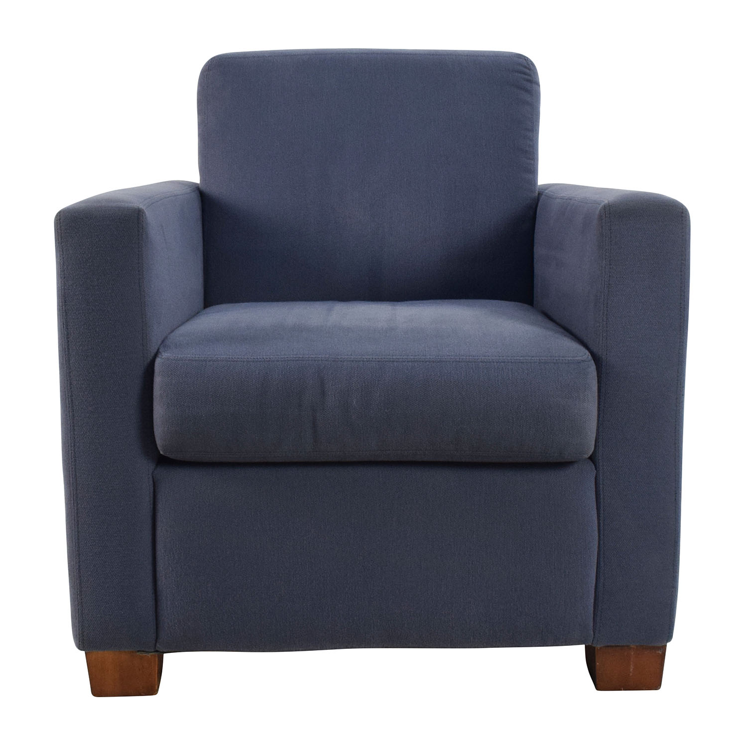 Blue Accent Single Seat Cushion Chair second hand