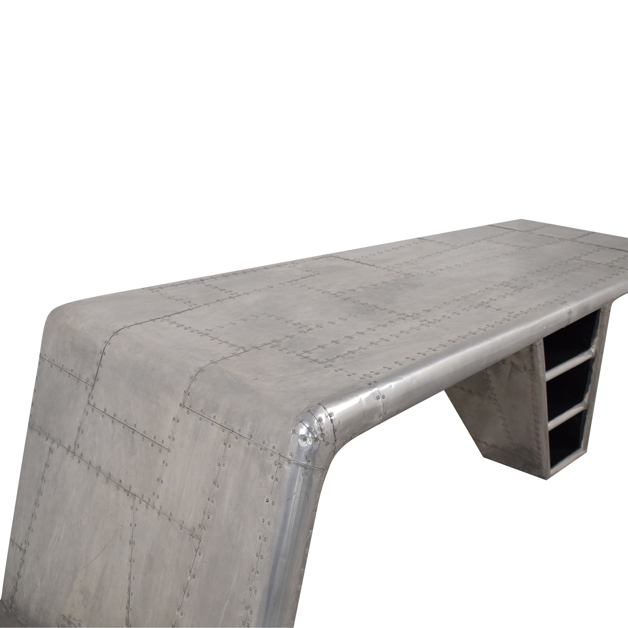 shop Lazzaro Leather Lindbergh Bomber Wing Desk Lazzaro Tables