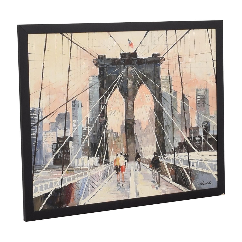 Brooklyn Bridge Framed Wall Art discount