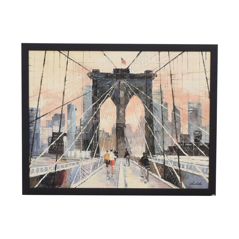 Brooklyn Bridge Framed Wall Art Decor