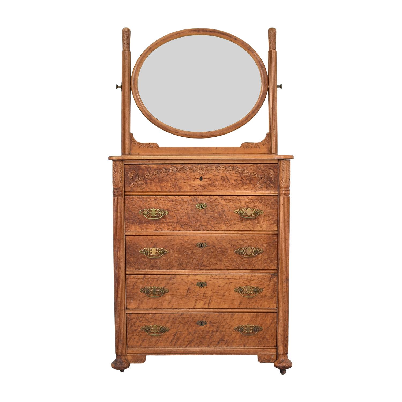 Antique Dresser and Mirror price