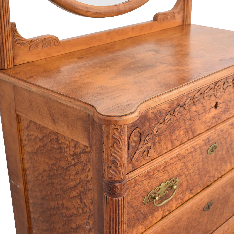 Antique Dresser and Mirror / Dressers