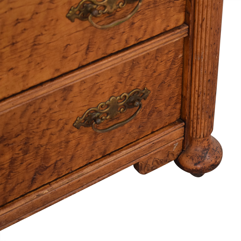 Antique Dresser and Mirror brown