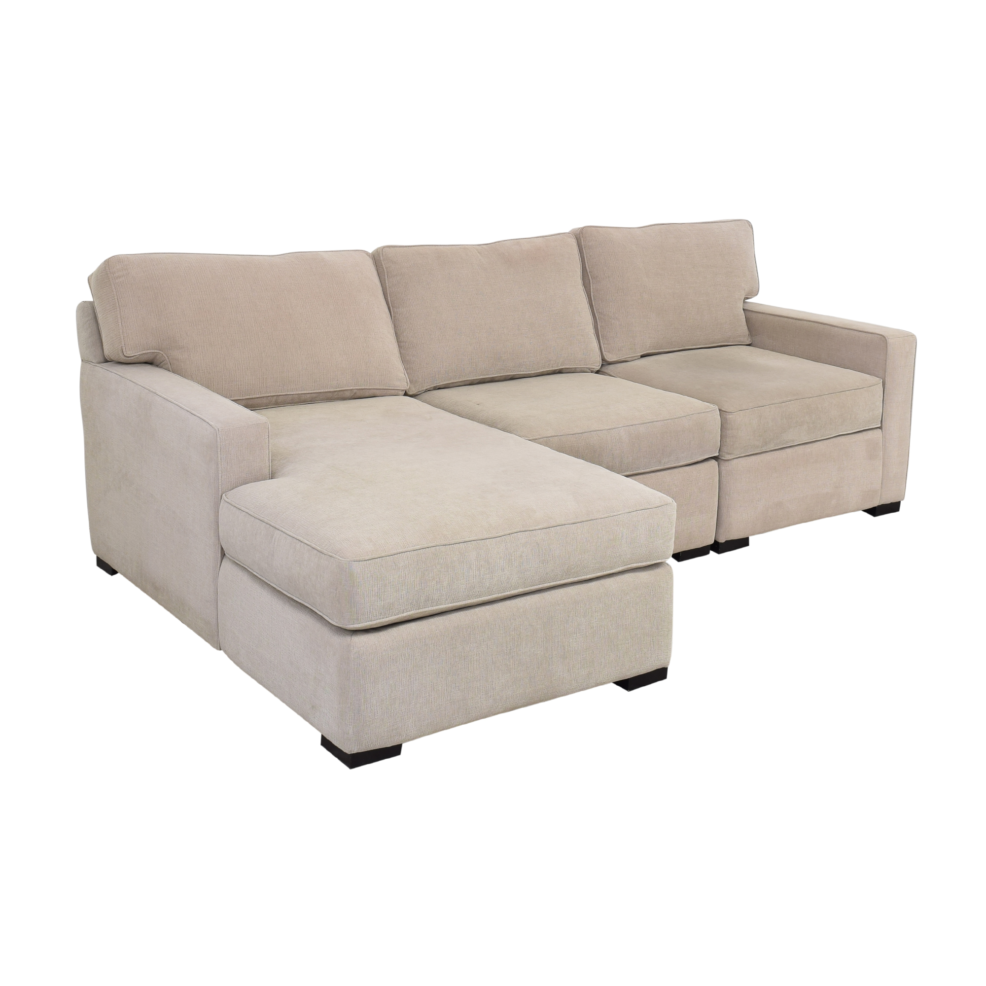 Macy's Macy's Chaise Sectional Sofa for sale