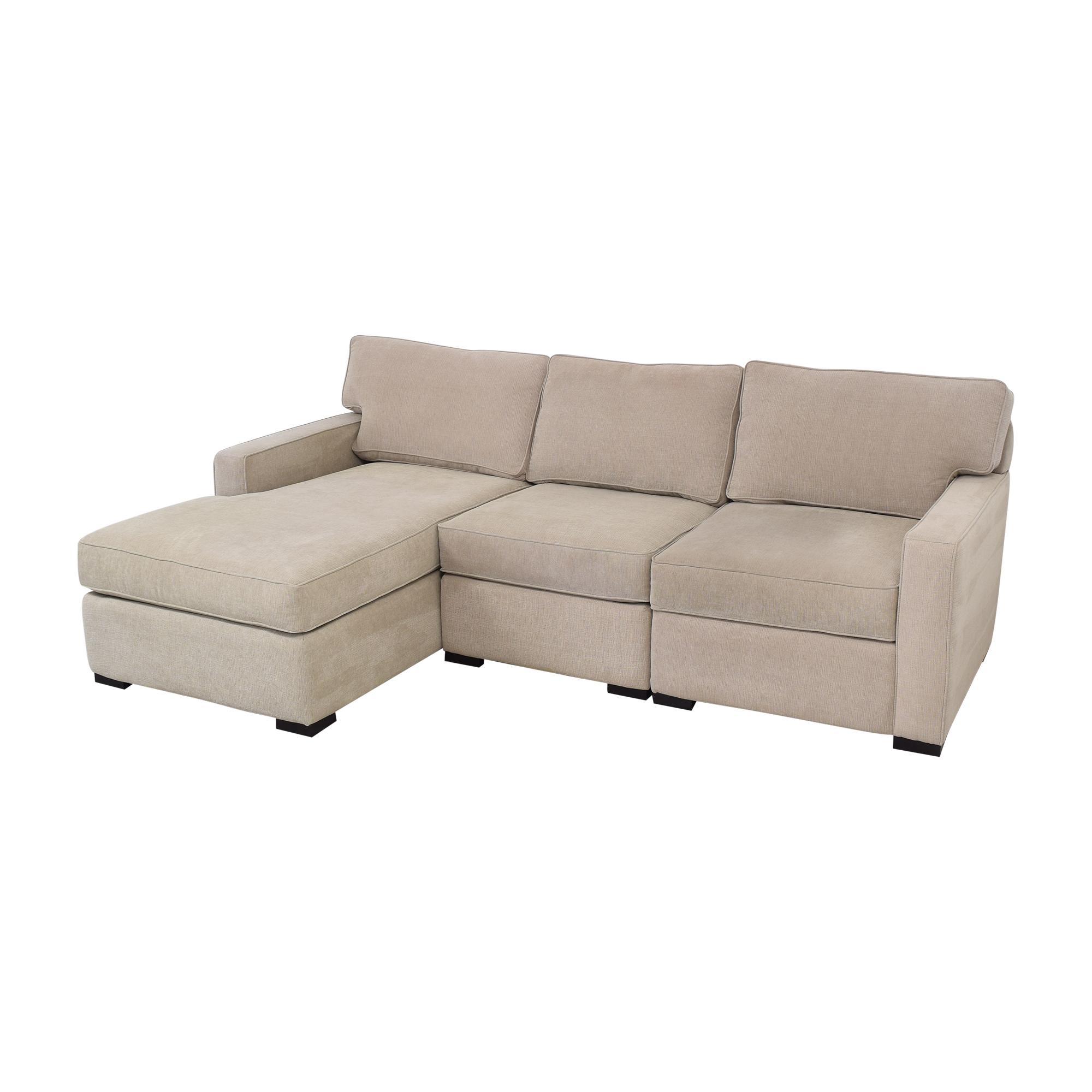 Macy's Macy's Chaise Sectional Sofa grey
