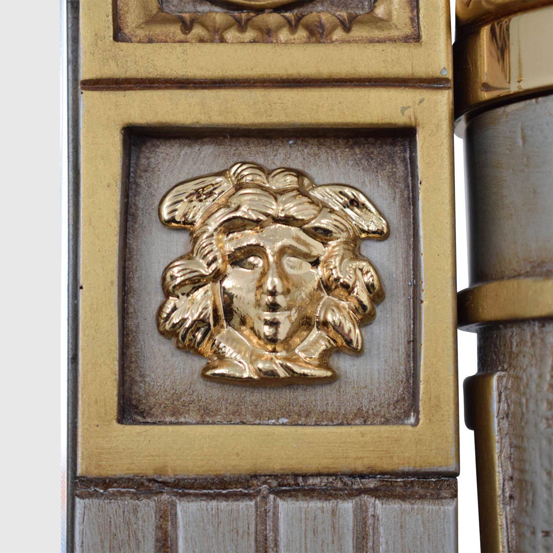 Versace-Style Mirror Storage Drawer silver & gold