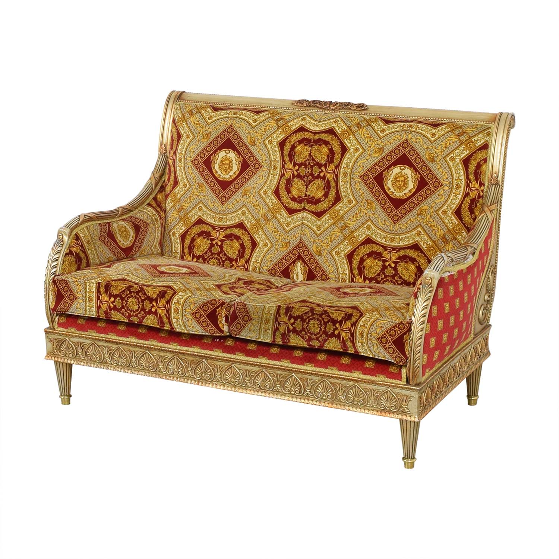 Versace-Style Loveseat Sofas