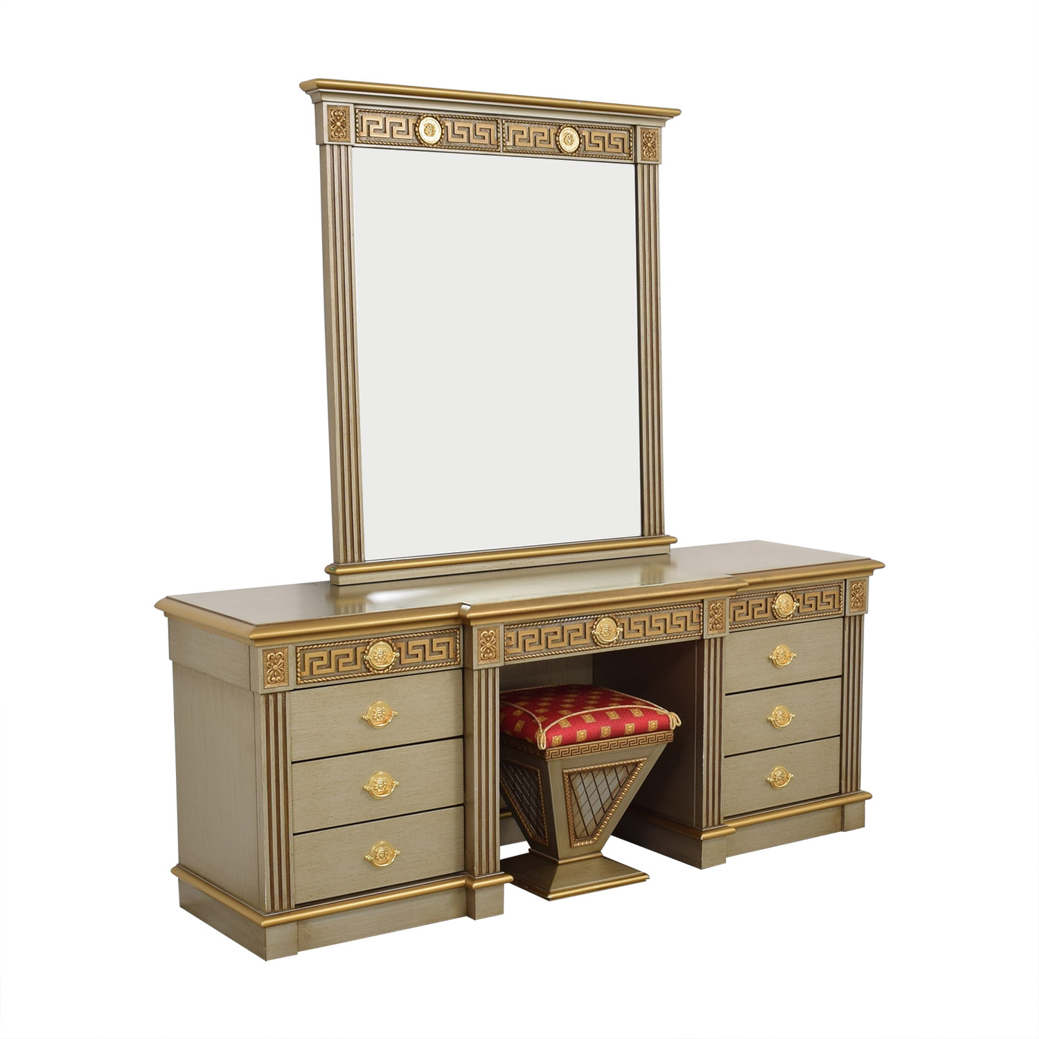 Versace-Style Vanity Table and Stool price