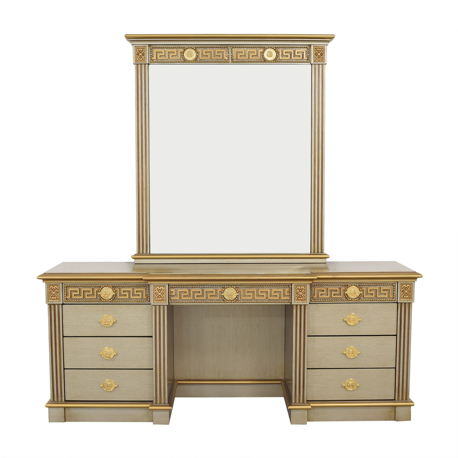 shop  Versace-Style Vanity Table and Stool online
