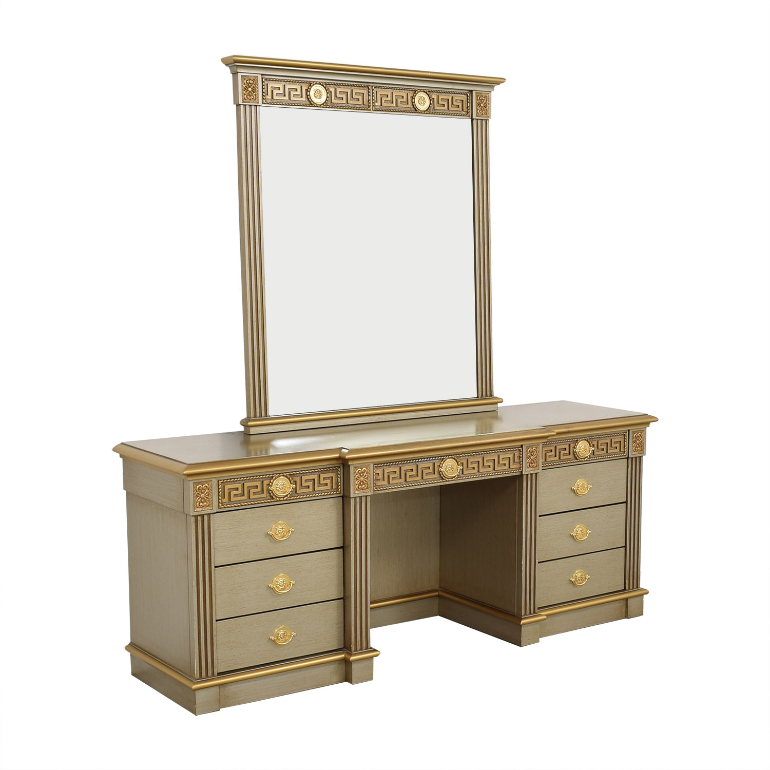 Versace-Style Vanity Table and Stool sale